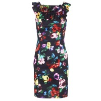 material Women Short Dresses Love Moschino WVG3100 Black / Multicoloured