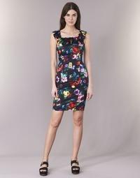 material Women Short Dresses Love Moschino WVG3100 Black / Multicoloured
