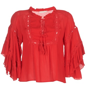 material Women Blouses See U Soon 8112057 Red