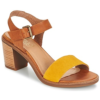 Shoes Women Sandals Casual Attitude CAILLE Brown / Yellow