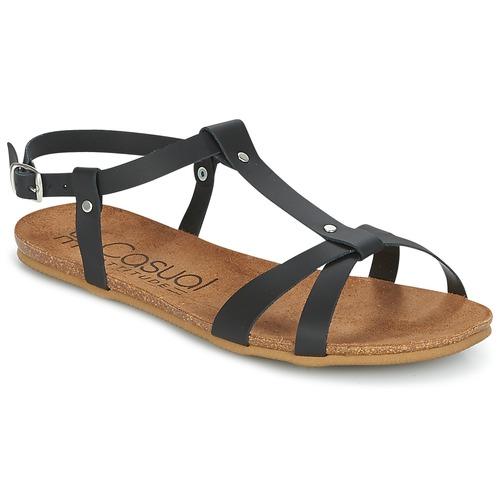 Shoes Women Sandals Casual Attitude JALIYAXE Black