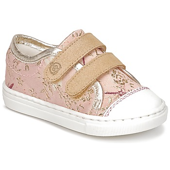 Shoes Girl Low top trainers Citrouille et Compagnie JORDANIA Pink / Gold