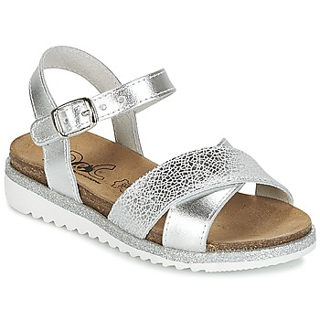 Shoes Girl Sandals Citrouille et Compagnie IZOEGL Silver