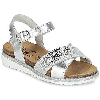 Shoes Girl Sandals Citrouille et Compagnie GAUFRETTE Silver