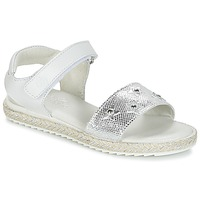 Shoes Girl Sandals Citrouille et Compagnie ILEVANDOK White / Silver