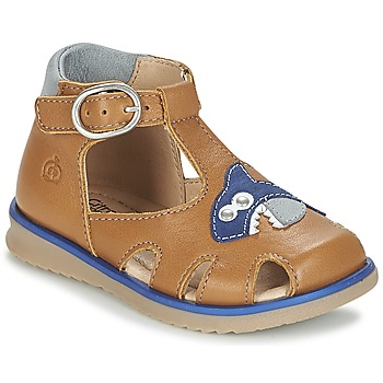 Shoes Boy Sandals Citrouille et Compagnie ISKILANDRO Brown / Blue