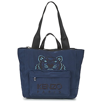 Bags Women Shopper bags Kenzo KANVAS TIGER TOTE LARGE Marine