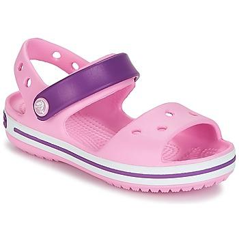 Shoes Girl Sandals Crocs Crocband Sandal Kids Carnation / Pink / Purple