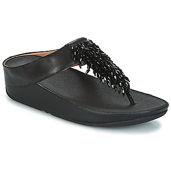 Shoes Women Flip flops FitFlop CHA-CHA TOE-THONG SANDALS CRYSTAL Black