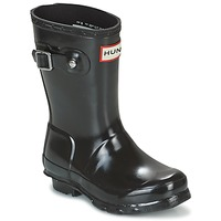 Shoes Girl Wellington boots Hunter ORIGINAL KIDS GLOSS Black