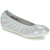 Shoes Girl Ballerinas Geox J PIUMA BAL A Grey / Silver