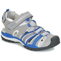 Shoes Boy Sports sandals Geox J BOREALIS B. C Grey / Blue