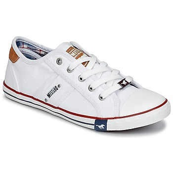 Shoes Women Low top trainers Mustang RUGARL White