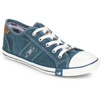 Shoes Women Low top trainers Mustang RUGARL Blue