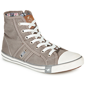 Shoes Women High top trainers Mustang GALLEGO Grey / Silver
