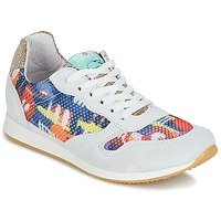 Shoes Women Low top trainers Ippon Vintage RUN-SEVENTY White / Multicoloured / Gold