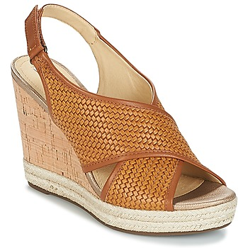 Shoes Women Sandals Geox JANIRA C Brown