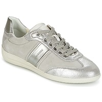 Shoes Women Low top trainers Geox D MYRIA A Grey / Silver