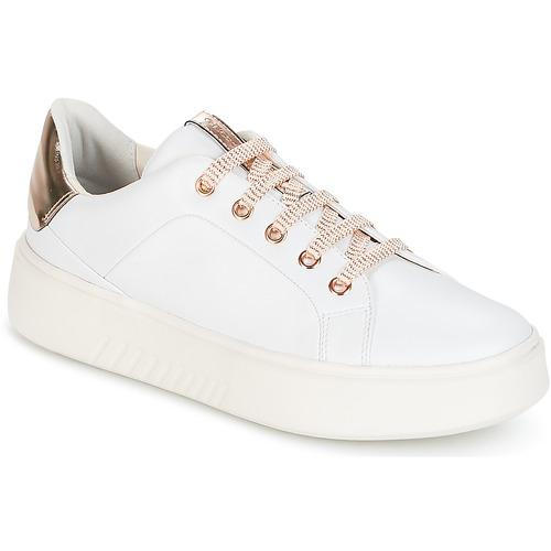 Womens D Nhenbus Un Faible Chaussures Montantes, Blanc, 4 Geox