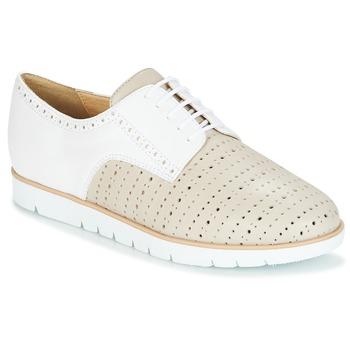 dinámica acelerador Asia  Geox KOOKEAN Taupe / White - Fast delivery | Spartoo Europe ! - Shoes Derby  shoes Women 96,00 €