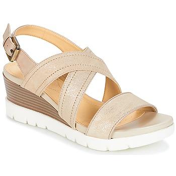 Shoes Women Sandals Geox MARYKARMEN P.B Gold / Beige