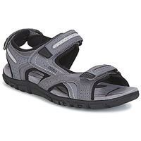 Shoes Men Sandals Geox S.STRADA D Grey