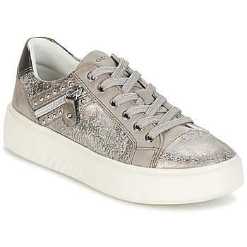 Shoes Women Low top trainers Geox D NHENBUS F Taupe / Grey