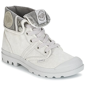 Shoes Women Mid boots Palladium US BAGGY Grey / METAL