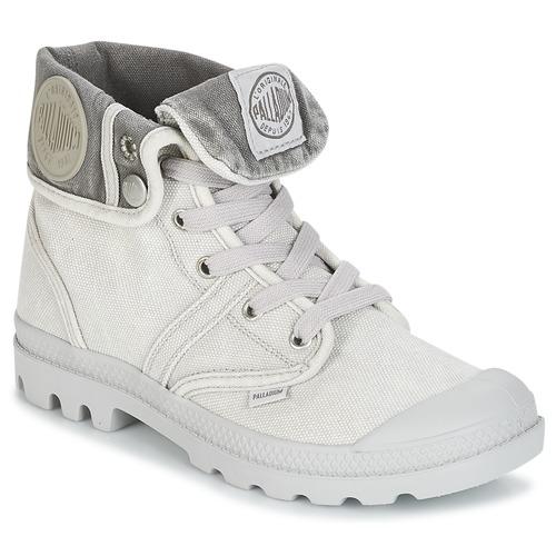 Shoes Women Mid boots Palladium US BAGGY Grey / Metal