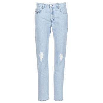 material Women straight jeans Diesel NEEKHOL Blue