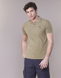 material Men short-sleeved polo shirts Napapijri EGEGIK Kaki
