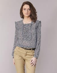 material Women Blouses Maison Scotch OLZAKD Black / White
