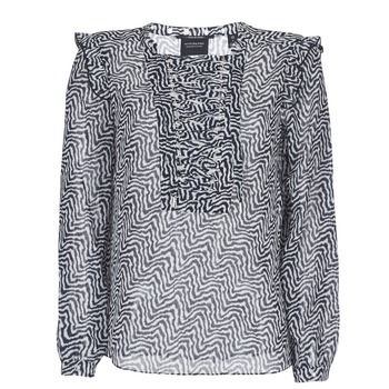material Women Blouses Scotch & Soda OLZAKD Black / White