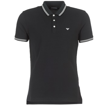 material Men short-sleeved polo shirts Emporio Armani TAMWU Black