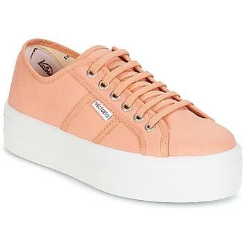 Shoes Women Low top trainers Victoria BLUCHER LONA PLATAFORMA Orange