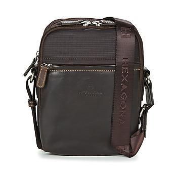 Bags Men Pouches / Clutches Hexagona BACACINE Brown