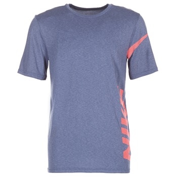 material Men short-sleeved t-shirts Nike NIKE BREATHE HYPER DRY T Blue / Red
