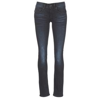 material Women straight jeans G-Star Raw MIDGE SADDLE MID STRAIGHT Rink