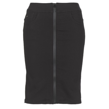 material Women Skirts G-Star Raw LYNN LUNAR HIGH SLIM SKIRT Black