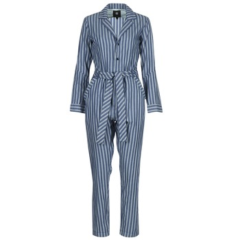 material Women Jumpsuits / Dungarees G-Star Raw DELINE JUMPSUIT WMN L/S Blue / White