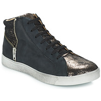 Shoes Girl Mid boots GBB CARLA Vte / Black bronze