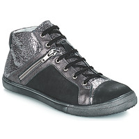 Shoes Girl Boots GBB KAMI Vts / Black-silver