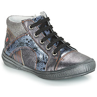 Shoes Girl Mid boots GBB ROSETTA Grey / Blue