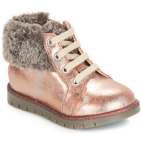 Shoes Girl Mid boots GBB RENATA Vts / Pink / Powder