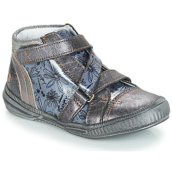 Shoes Girl Mid boots GBB RADEGONDE Grey / Blue