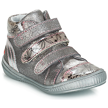 Shoes Girl Mid boots GBB RAFAELE Grey / Silver