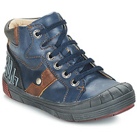 Shoes Boy High top trainers GBB RENZO Blue