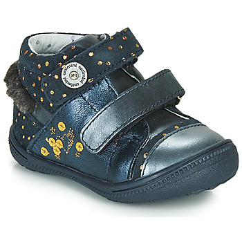 Shoes Mid boots Catimini ROSSIGNOL Vtc / Navy spots / Gold