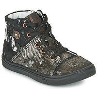 Shoes Girl High top trainers Catimini ROUSSEROLLE Black / Gold
