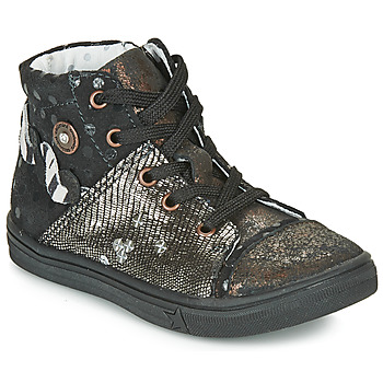 Shoes Girl Boots Catimini ROUSSEROLLE Vtc / Black copper